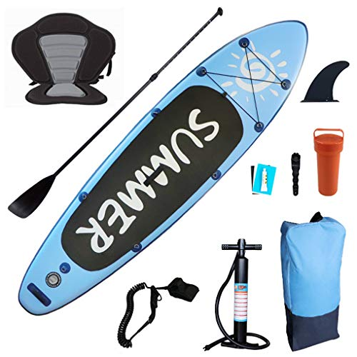 WXJZ SUP Board Paddling Board Set Stand Up, Paddling Surfbrett Aufblasbare Wassersport Kajak 15cm Dick 300 * 80 * 15cm