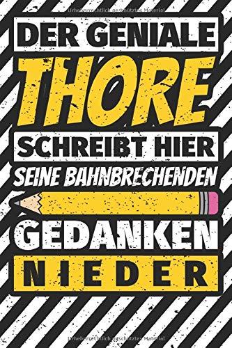 Notizbuch liniert: Thore Geschenke lustiger Spruch Vorname