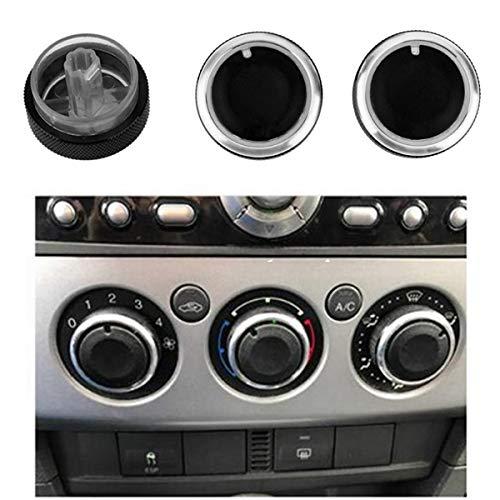 GOFORJUMP Commande de Chauffage de climatisation Bouton de commutateur pour F/ORD F/OCUS 2 MK2 F/ocus 3 MK3 M/ondeo Bouton AC Voiture 3pcs / Ensemble pour Mise au Point de Style de Voiture Noir
