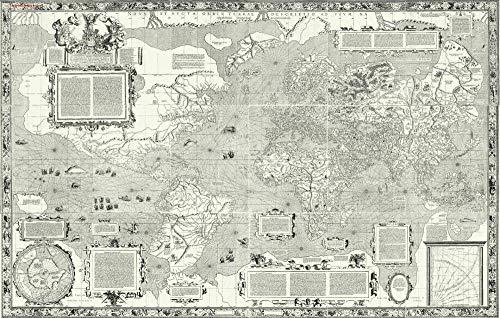 Blanriguelo 1000 Piezas Jigsaw Creativo Puzzle Adultos Mapa del Mundo de Mercator * Adultos Juego de Alta dificultad Regalo