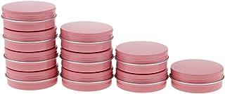 Baoblaze 10 Packs 60ml Round Aluminum Tin Cans Screw Top Metal Steel Tins Empty Slip Slide Round Containers Bulk Storage O...