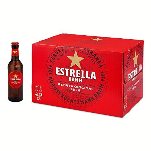 Estrella Damm Cerveza, Caja de 24 x 33cl