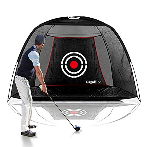 Galileo Golf Net Training Aids Hitting Practice Training Nets for Backyard Driving Range Indoor Use Golf Cage Tent Swing Training Aid with Target 10'x6.5'x6'