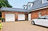 SCHARTEC Sektionaltor mit Antrieb'Made in Germany' IM40 Garagentor 40 mm gedämmt weiß für Garage 2500 x 2125/2500 x 2000/2375 x 2125 mm und mehr (2370 x 2000 mm)