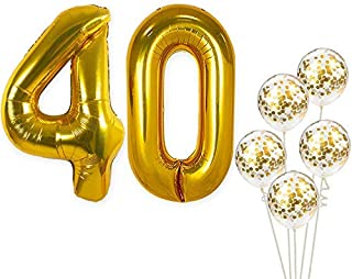 black and gold 40th birthday party decorations
