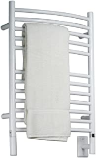 Jeeves E Curved White Towel Warmer by Amba
