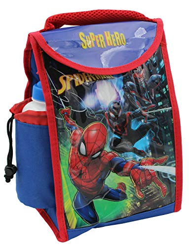 Spiderman Lunch Box Pack and Pop Up Bottle - Officially Licenced (Spiderman...