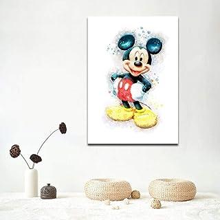 Images à colorier bricolage numériquement avec peinture à l'image de Mickey Mouse -40x50cm-Sans cadre