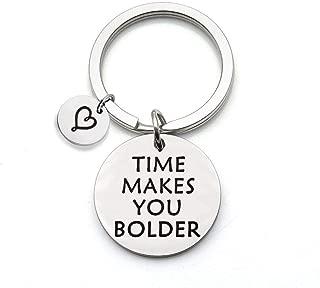 SEIRAA Time Makes You Bolder Quote Keychain Lyrics Jewelry Music Gift Inspirational Keychain Song Lyrics Gift