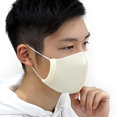 costick ウレタンマスク [1枚] 日本製 制菌・消臭加工 3層構造 立体縫製 洗える マスク 布マスク (アイボリ...
