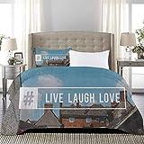 UNOSEKS LANZON Juego de ropa de cama moderna inspirada en la cultura pop con hashtag en un pueblo Fotografía juegos de cama para niños tan suave y cómodo, Multicolor, tamaño completo