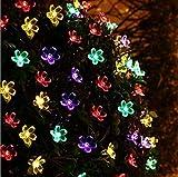 Enchufes de cuerdas enchufe Solares de jardín Luces al aire libre a prueba de agua, 20LED luces, interior/exterior secuencia solar luces for jardín Patio Patio Inicio Partes de Navidad de la boda (m