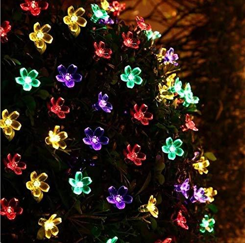 String Lights Plug in Solar Garden Lights Outdoor Waterproof, 20LED Lights, Indoor/Outdoor Solar String Lights for Garden Patio Yard Home Christmas Parties Wedding (Multi-Coloured)