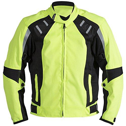 Racer Cool 2 Chaqueta Textil, Amarillo Fluorescente, L
