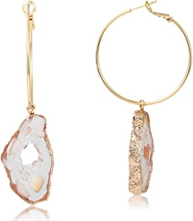 agate cameo earrings