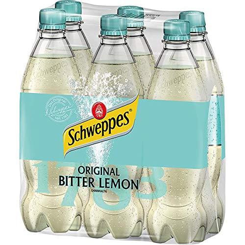 DPG Schweppes Bitter Lemon PET, 6er Pack, 6 x 0,5 l EINWEG