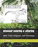 Dinosaur Coloring & Lettering: With T-Rex, Stegosaur, and Triceratops (School, After School, Weekends, Summer, Homeschool)