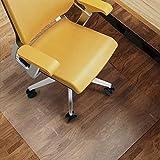 HAPFIY チェアマット 床保護マット 75x122cm 厚さ1.5mm クリアマット 透明マット ソフト 撥水 おしゃれ 汚れ防止 お手入れ簡単 床暖房対応 滑り止め