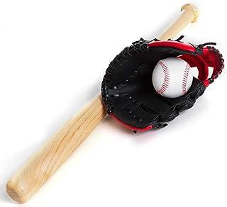 442f889396024 Kit Taco De Baseball em Madeira e Bola e Luva YW274