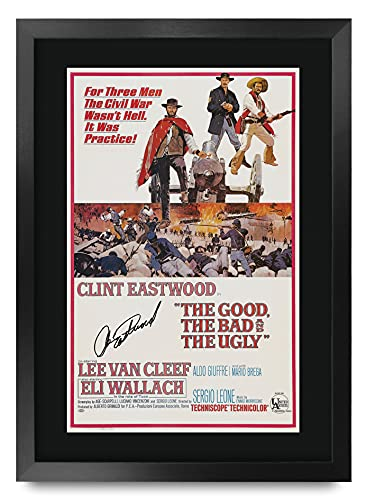 HWC Trading A3 FR The Good, The Bad And Ugly Film Posters Clint Eastwood Getekend Gift Ontworpen A3 Printed…