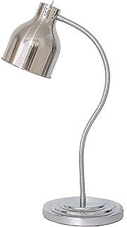 ビュッフェEssentialsの食品温暖化ランプ ポータブルプロフェッショナルヒートランプウォーマー食品 保存小型商用ディスプレイ暖房,銀