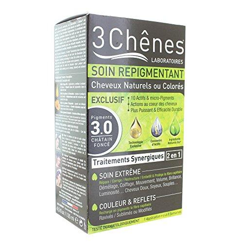 Les 3 Chênes Soin Repigmentant Cheveux Naturels ou Colorés - 5.5 Châtain Clair Acajou