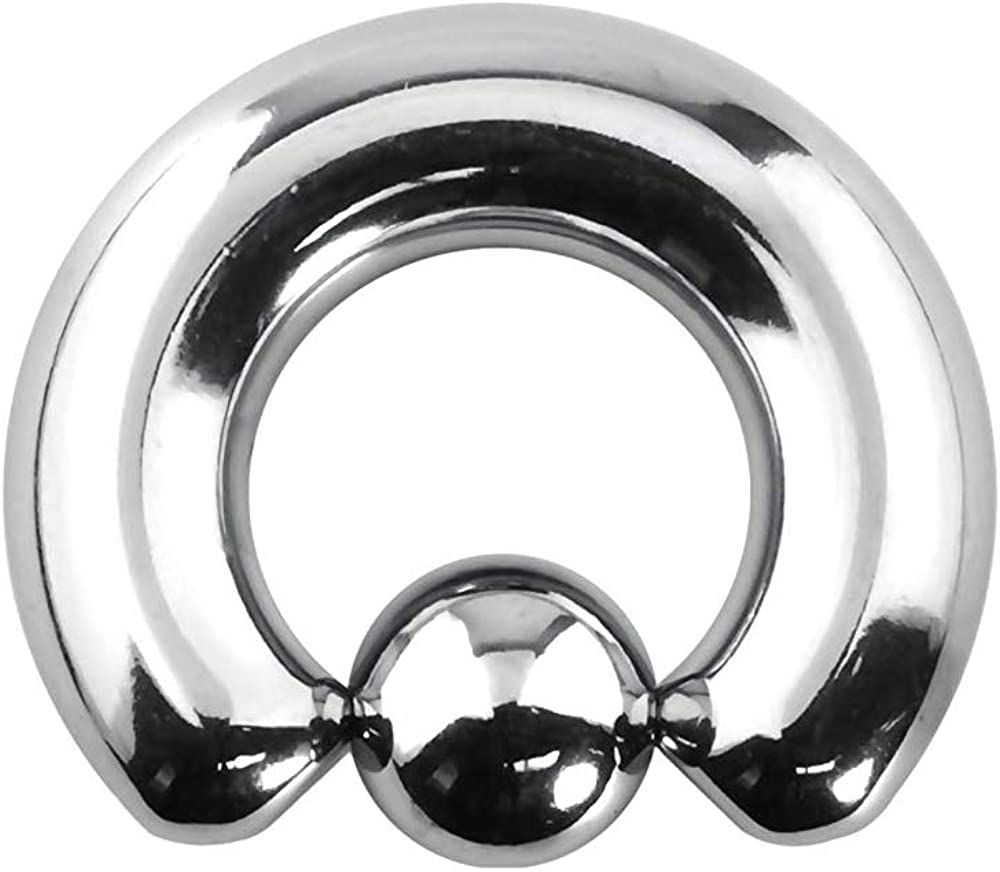 BodyJewelryOnline Captive Bead Ring Large Gauge Made of Surgical Steel - 0G 22mm