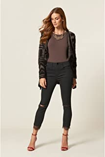 Calça Jeans Black Renda Barra