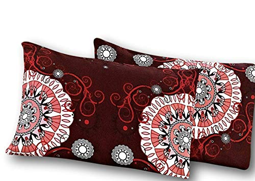 Bigote 2piezas burdeos Palacio Fancy diseño de fundas de almohada de juego de funda de almohada