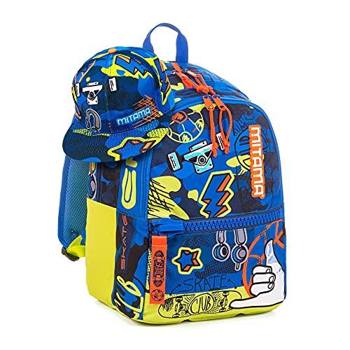 Mitama Mochila Plus Epic Sport, Boy, escuela y tiempo libre, con sombrero de regalo y bolsa