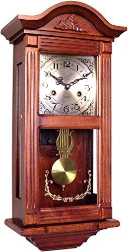 72047 Orologio a pendolo in legno da parete con movimento meccanico carica 31 giorni