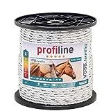 Cordón conductor para pastor eléctrico 150m, 6mm, 3x0,20 Cobre + 6x0,20 Inox