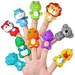 1. Vanmor Rubber Cute Animal Finger Puppets (10 Pcs)