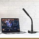Microfono da Supporto, Comodo Microfono Nero Pratico, lezioni in Aula per conferenze di Grandi Dimensioni Registrazione Video Chat Professionale