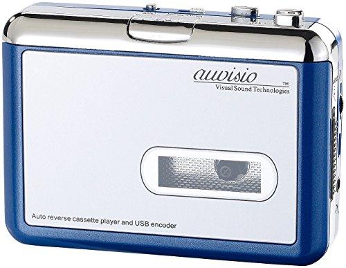 Auvisio Tragbarer USB-Kassettenspieler Blue Edition für MP3-Aufnahme