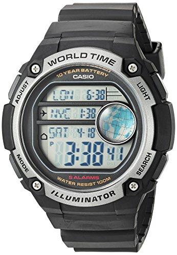 Casio Ae-3000w-1avcf Reloj Digital para Hombre Colección Collection Caja De Resina Esfera Color Gris