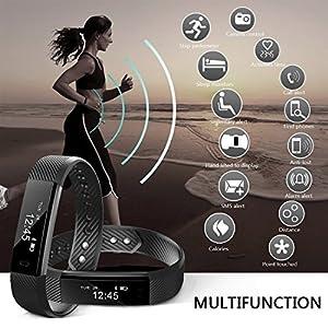 NAKOSITE SB2433 Reloj inteligente mujer hombre Smartwatch Pulsera actividad relojes Inteligentes deportivo, Podometro Contador de Pasos, Calorías, Sueño,Distancia, Android 5.0 o IOS 8.0 y posteriors