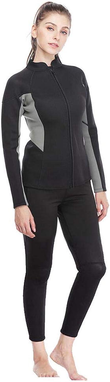 Yanuten Thermal Wetsuit, Outdoor 3mm Female Wetsuit Long Sleeve Split Body Diving Surfing Wetsuit