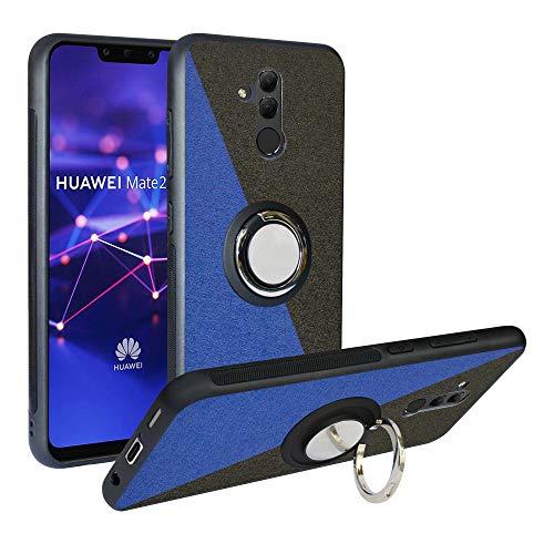 Funda para Huawei Mate 20 Lite, Fashion Design [Antigolpes] con 360 Anillo iman Soporte, Resistente a los arañazos TPU Funda Protectora para Huawei Mate 20 Lite,Blue/Black