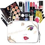 LEAMALLS 25 Piezas Estuches Juego de Maquillaje Completo Kit de Cosmético todo en uno Regalo Maquillaje Sombra de Ojos Paleta para Ojos Labios y Rostro Professional Makeup