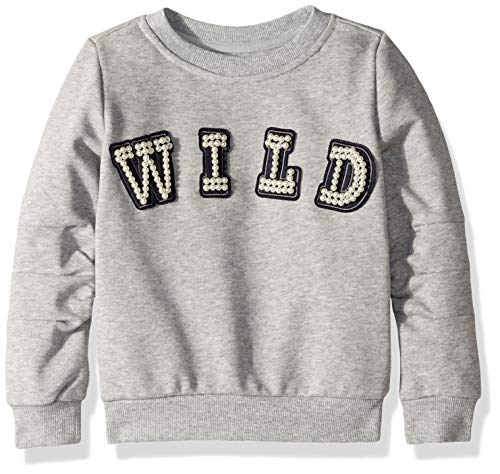 Hudson Mädchen Long Sleeve Shirt Pullover, Mabel Heather Grey, Klein
