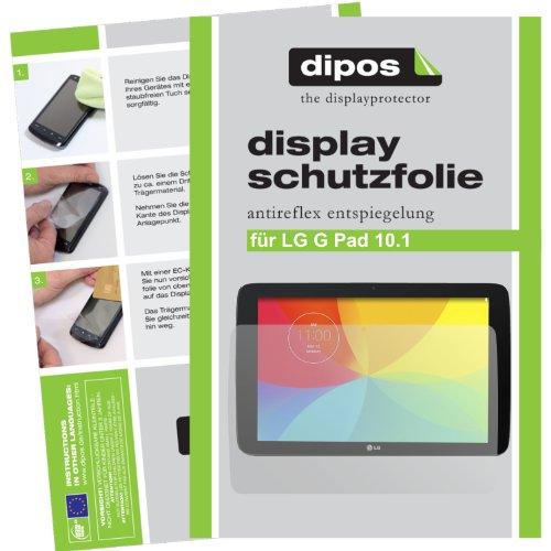 dipos I 2X Protector de Pantalla Mate Compatible con LG G Pad 10.1 pelicula Protectora