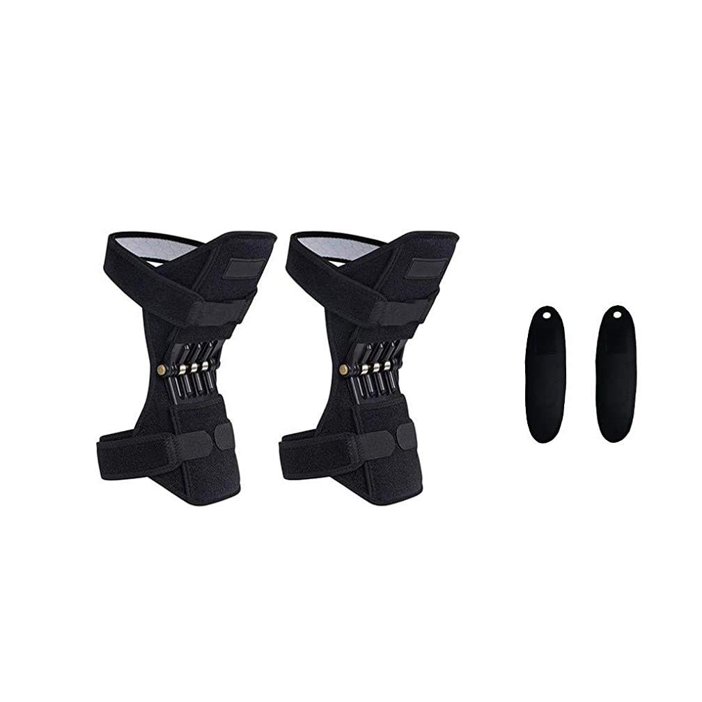 Power Lift Joint Support Non-Slip Knee Pads - Powerful Rebound Spring Force Powerlift - Knee Brace Patella Support knee protection booster Joint Pain Relief Meniscus Tear (C)