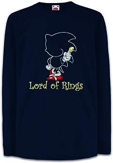 Urban Backwoods King of Rings Gamer Camisetas de Manga Larga T-Shirt para Niños Niñas