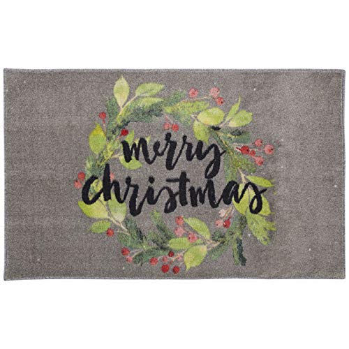 Mohawk Home Christmas Wreath Gray Area rug, 2'6x4'2