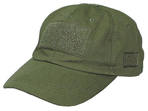 MFH Casquette Baseball armée avec rapiéçage Velcro (Olive)