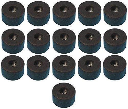 Adam Hall Hardware 4909 M16 AH - 16er Set Gummifuß 38 x 20 mm schwarz im Beutel