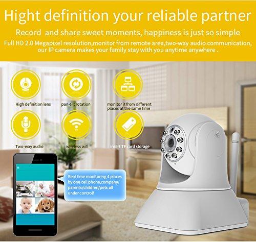 EasyN 187 V ONVIF 1280 * 720p WiFi 802.11b/g/n Cámara de vigilancia IP inalámbrica MP HD cámara de compatible con P2P Plug and Play ranura para tarjeta TF P/T Mobile sistema de seguridad con visión nocturna