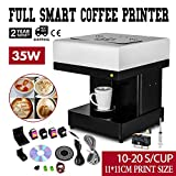 VBENLEM Coffee Printer Machine 10-20 S/Cup DIY Design Food 3D Latte Art Maker Selfie Milk Tea for Chocolate Cookies Small Cake Store