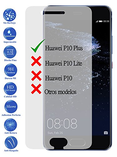 Todotumovil Protector de Pantalla Huawei P10 Plus de Cristal Templado Vidrio 9H para movil